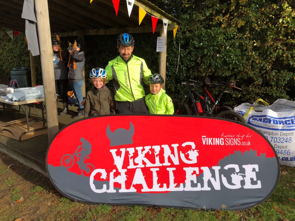 The 2018 Viking Challenge Start line at Redmile Primary School
